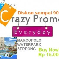 Harga Promo Marcopolo Waterpark Serpong Only Rp. 15.000