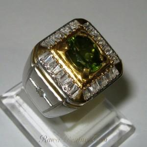 cincin pria peridot silver