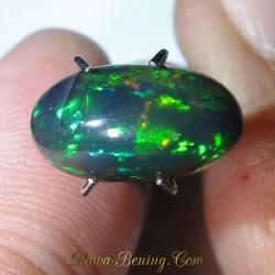 Batu Mulia Black Opal Rainbow 3D 1.68 carat