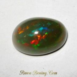 Batu Mulia Greyish Black Opal 3.95 Carat