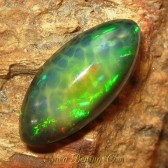 Marquise Forest Neon Black Opal 2.2 carat